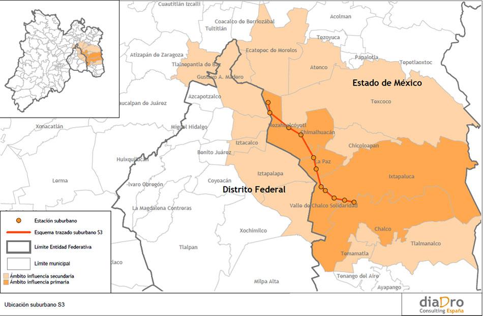 Nezahualcoyotl Mexico Map.Demand Study For Sub Urban Train Chalco Nezahualcoyotl Mexico